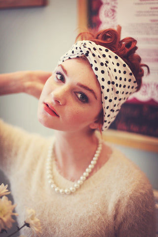 Polka Dot Turban Headband, Polka Dot Headband- IN 3 COLOURS