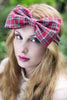 Tartan Bow Headband,Tartan Headband, Oversized Bow Headband- RED OR GREEN