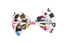 Liquorice allsorts dollymix Print Hair Bow Rockabilly Pin up Girl Hair Clip- IN CREAM - IN 3 SIZES