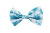 Turquoise Rose Hair Bow, Turquoise Bow- IN 3 SIZES