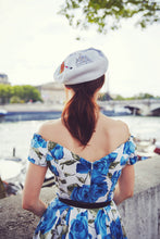 Paris Embroidered Beret, French Beret, Parisian Hair Accessory- IN 4 COLOURS