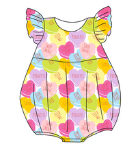 Load image into Gallery viewer, Candy Hearts Bubble Romper
