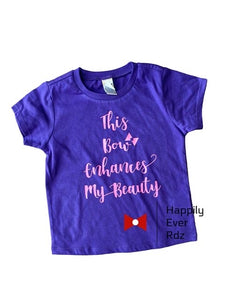 Purple This Bow T-Shirt