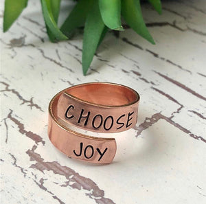 Copper or Brass Wrap Ring