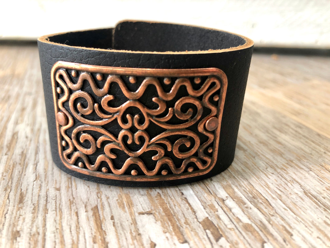 Filigree Leather Bracelet