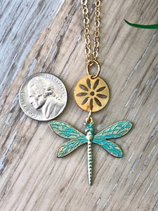 Dragonfly Flower Necklace