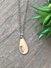 Load image into Gallery viewer, Believe Teardrop Necklace