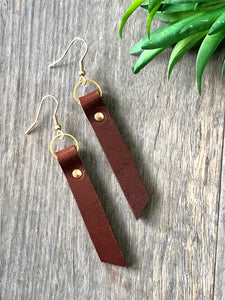 Leather Rivet Earrings (Multiple Colors)