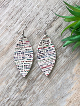 Load image into Gallery viewer, Abstract Rainbow Leather Earrings
