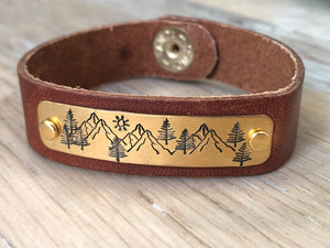 Mountainous Leather Bracelet