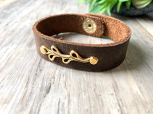 Load image into Gallery viewer, Leather Branch Bracelet