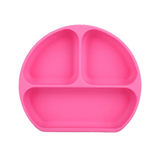 assiette a compartiment en silicone rose