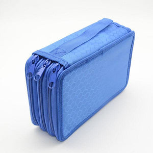trousse 3 compartiment bleue