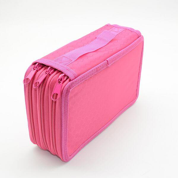 trousse 3 compartiment rose