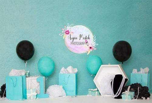 Katebackdrop£ºKate Gifts with Balloons Children Backdrop for Photography Designed By Aryen Mostek