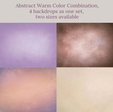 Katebackdrop:Abstract warm color combination backdrops for photography( 4 backdrops in total )