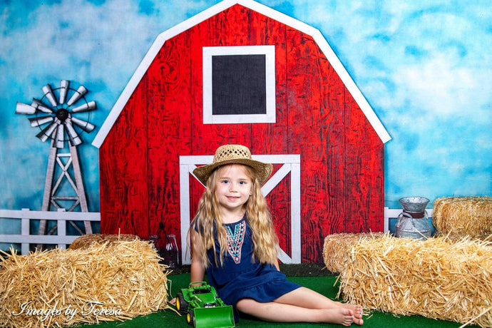 Katebackdrop£ºKate Barnyard Fun Children Summer Backdrops Designed by Arica Kirby
