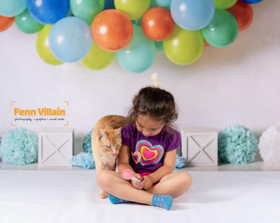 Katebackdrop:Kate Blue Orange Green Birthday Balloons Backdrop for Photography Designed By Mandy Ringe Photography
