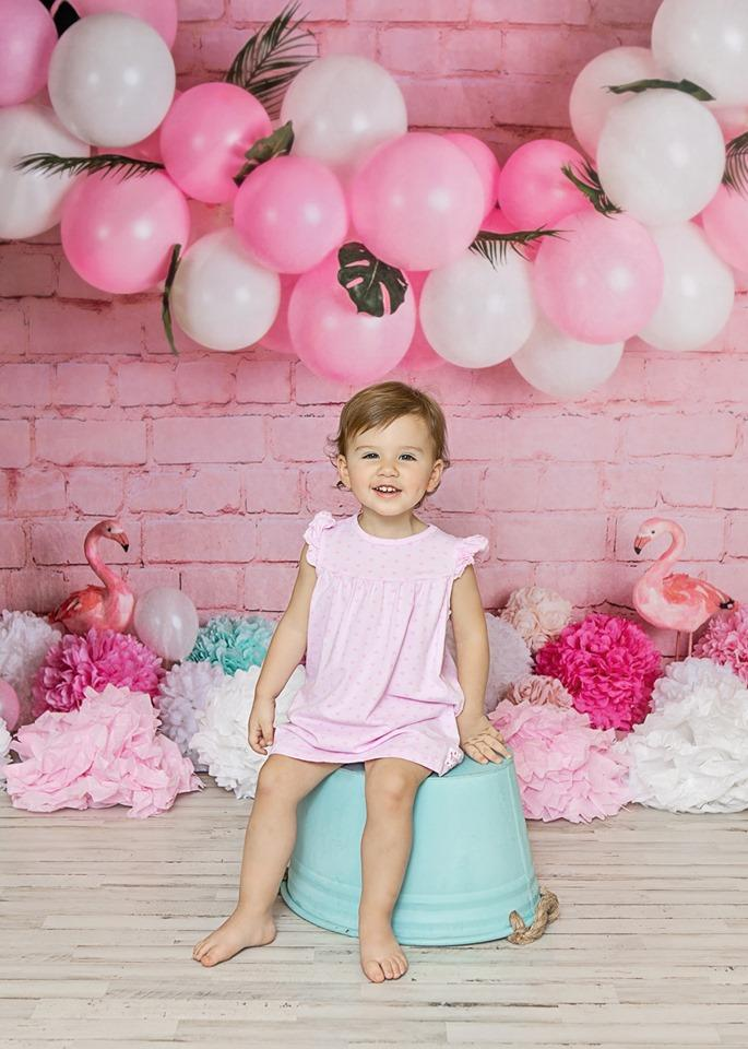 Katebackdrop£ºKate Girly Pink Flamingos Children Backdrop for Photography Designed by Mandy Ringe Photography