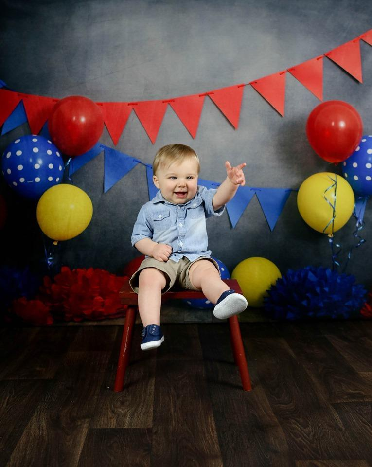 Cargar imagen en el visor de la galería, Katebackdrop£ºKate Primary Party with Balloons Backdrop for Children Photography Designed By Tyna Renner