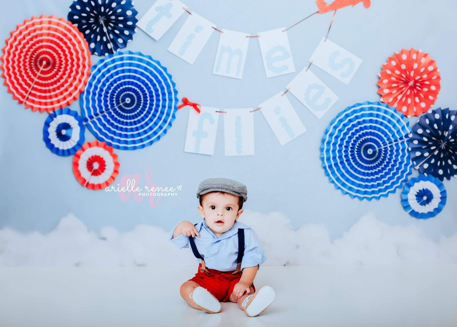 Cargar imagen en el visor de la galería, Katebackdrop£ºKate Time Flies Children july of 4th Backdrop for Photography Designed by Lisa B