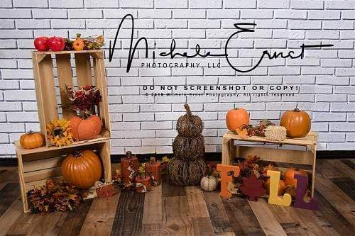 Katebackdrop£ºKate Fall Harvest Festival Pumpkin Backdrop for Photography Designed By Michele Ernst Photography
