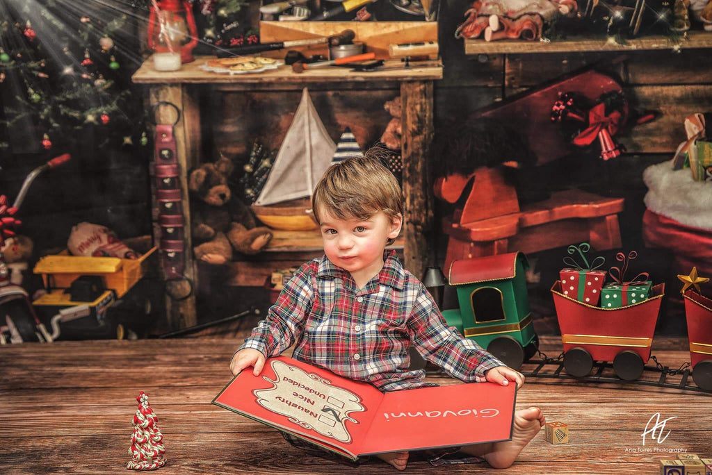 Katebackdrop£ºKate Christmas Santas Workshop Backdrop designed by Arica Kirby