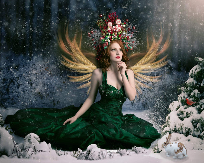 Katebackdrop:Kate Winter Snowy Forest Backdrop for Photography Designed By Jerry_Sina