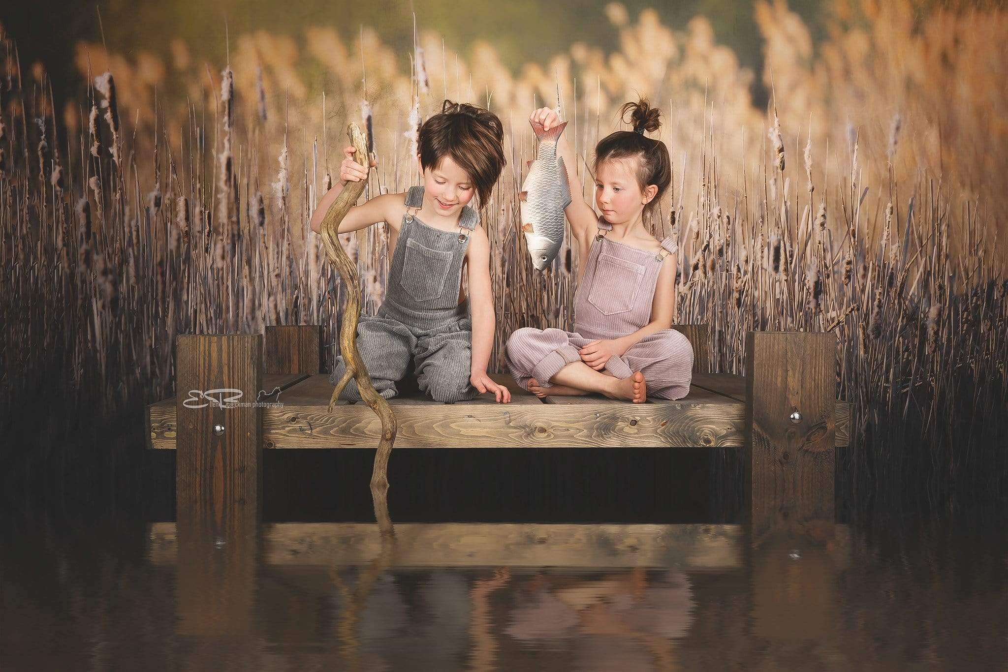 Cargar imagen en el visor de la galería, Katebackdrop£ºKate Fall Reeds Scenery Backdrop Designed By Pine Park Collection