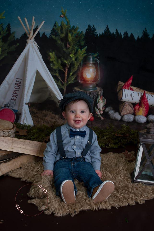 Katebackdrop:Kate Camping at Night Children Backdrop Designed By Mandy Ringe Photography