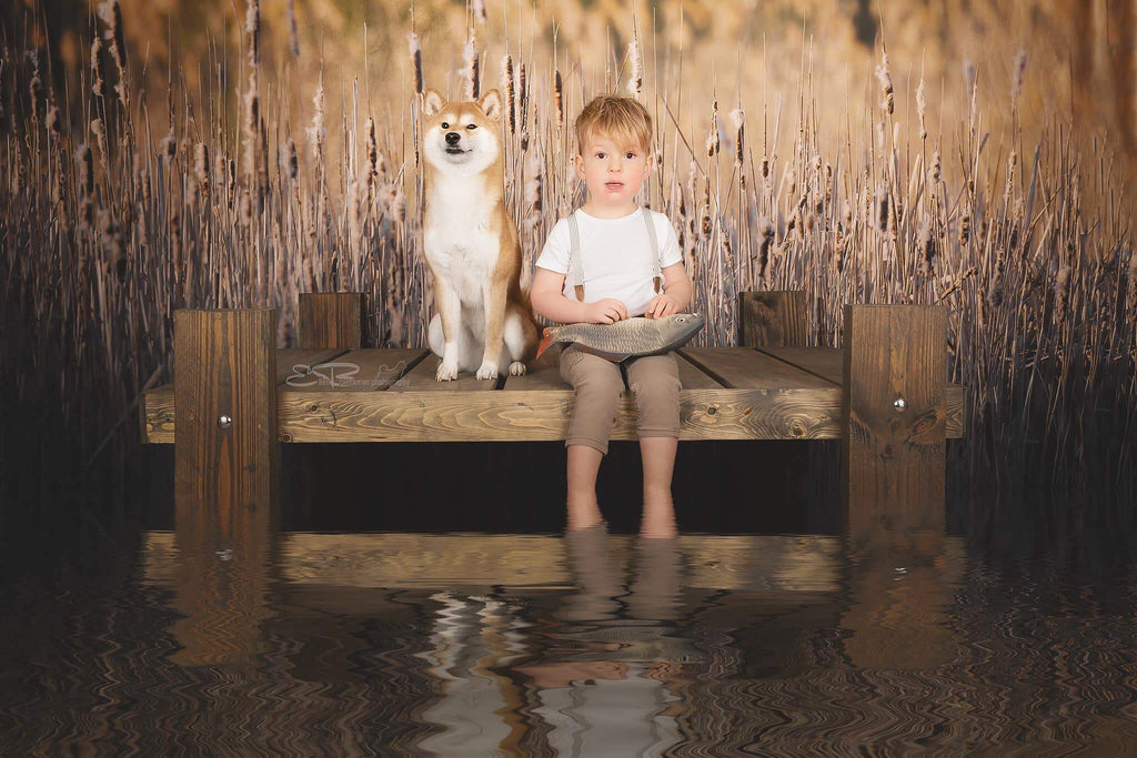 Katebackdrop£ºKate Fall Reeds Scenery Backdrop Designed By Pine Park Collection