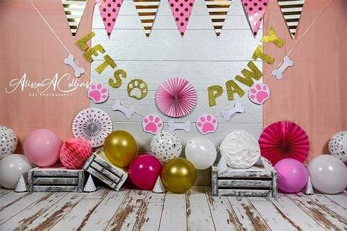 Katebackdrop£ºKate Cake Smash Children Paw Backdrop Designed by AAE Photography