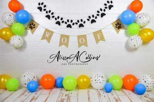 Katebackdrop£ºKate Neutral Dog Balloons Decorations Backdrop Designed by AAE Photography
