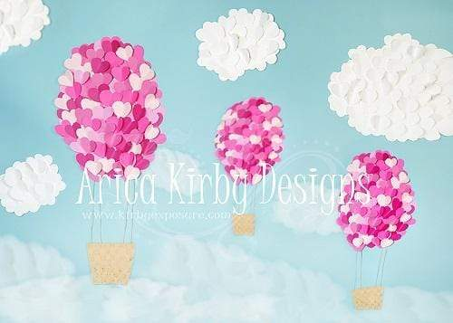 Katebackdrop:Kate Valentine's Day Heart Balloons Backdrop Designed By Arica Kirby