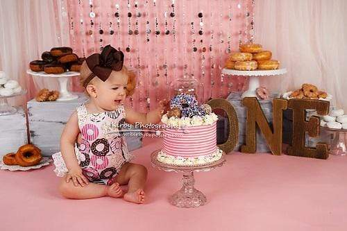 Katebackdrop£ºKate Donuts Birthday Set Pink Girly Backdrop Designed By Arica Kirby