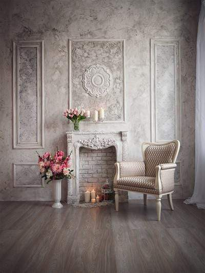 Katebackdrop:Kate Living Room Wall Floor indoor castle Building  for wedding Backdrops