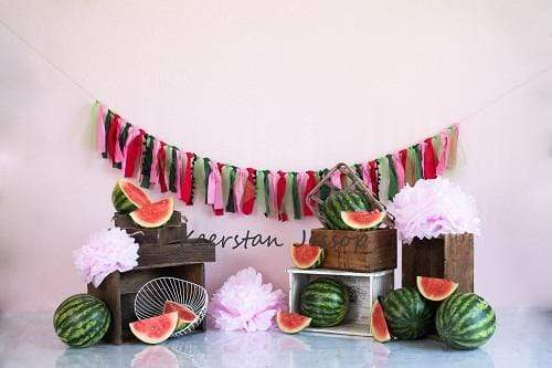 Cargar imagen en el visor de la galería, Katebackdrop:Kate Summer Watermelon Decoretions Children Backdrop Designed By Keerstan Jessop