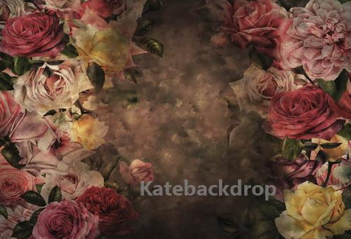 Katebackdrop:Kate Retro Abstract Flowers Backdrop Designed By Jerry_Sina