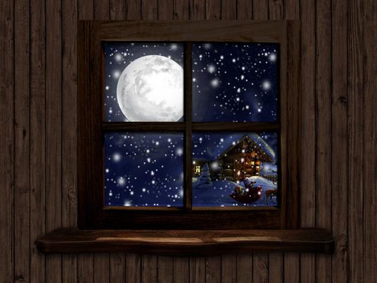 Katebackdrop£ºKate Christmas Window View Wood Room Backdrop Designed By Jerry_Sina