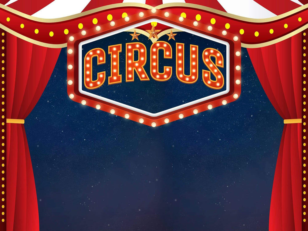 Katebackdrop:Kate Circus Show Red Curtain Backdrop for Photography Designed by JFCC