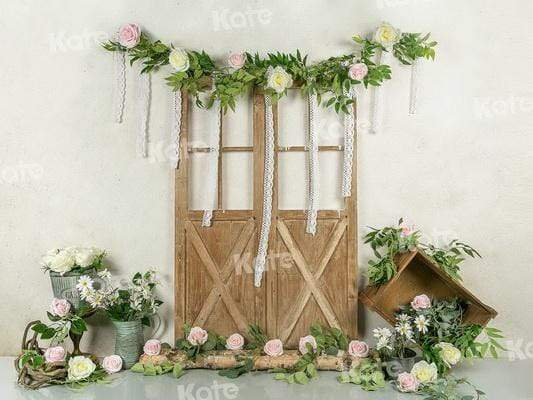 Katebackdrop£ºKate Doors Floral Spring Photo Backdrop Designed by Jia Chan Photography