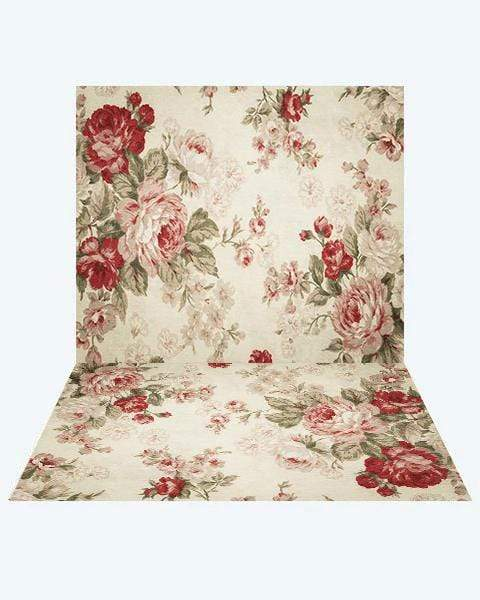 Katebackdrop:Kate Pattern Flower Backdrop+ Pattern Flower Rubber Floor Mat