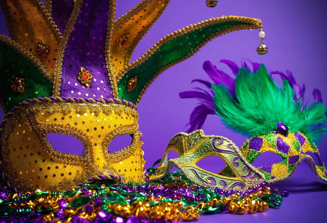 Katebackdrop:Kate Purple Background With Masks Carnival for photography