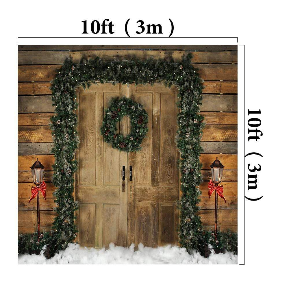 Katebackdrop£ºKate Holiday Door Christmas Wreath Backdrop designed by Arica Kirby