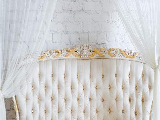 Katebackdrop:Kate White Wall with Curtains  Headboard Backdrop for Photography