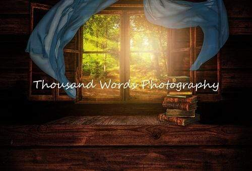 Cargar imagen en el visor de la galería, Katebackdrop:Kate Scenic Forest Outside the Window Book Backdrop for Photography Designed by Marina Smith