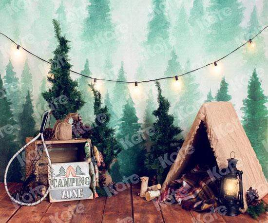 Cargar imagen en el visor de la galería, Katebackdrop:Kate Forest Camping Children Summer Backdrop for Photography Designed by Megan Leigh Photography