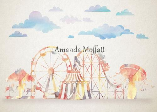 Katebackdrop:Kate Ferris Wheel Merry-go-round  Coaster Circus Park Backdrop for Photography Designed by Amanda Moffatt