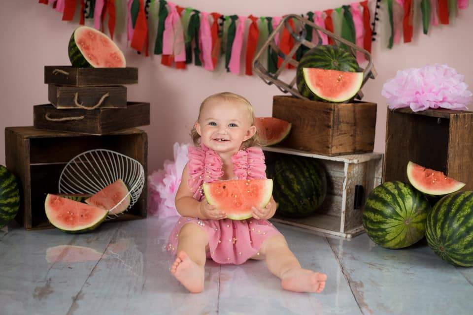 Katebackdrop:Kate Summer Watermelon Decoretions Children Backdrop Designed By Keerstan Jessop