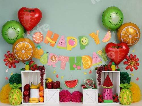 Cargar imagen en el visor de la galería, Katebackdrop£ºKate Fruity Birthday Children Backdrop for Photography